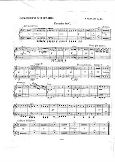 Военный концерт для виолончели с оркестром, Op.18: Партии труб by Адриен Франсуа Серве