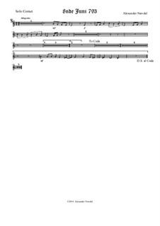 8nde Juni 793: Solo cornet part by Alexander Nævdal