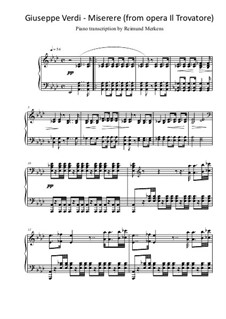 Miserere: Piano transcripition by Джузеппе Верди