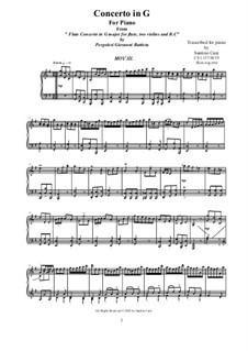 Концерт для флейты с оркестром соль мажор : Переложение для фортепиано – Часть III, CS 1.137/3 by Джованни Баттиста Перголези