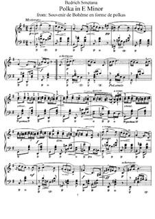 Воспоминания о Чехии в форме полек: Полька ми минор, B.116 T.84 Op.13 by Бедржих Сметана
