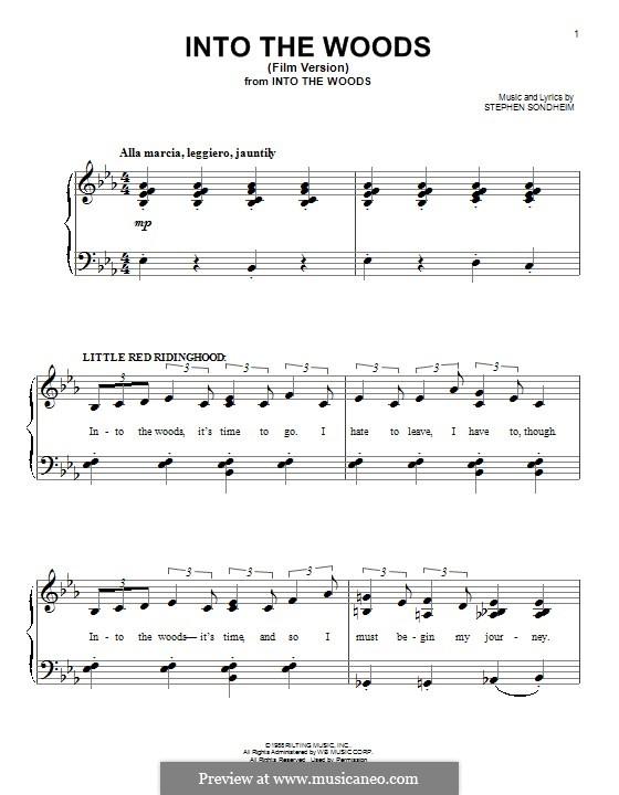 Into the Woods: Для фортепиано by Stephen Sondheim