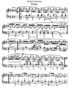 Три поэтических польки, B.95 T.65 Op.8: Полька No.1 ми-бемоль мажор by Бедржих Сметана
