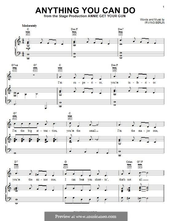Anything You Can Do: Для голоса и фортепиано (или гитары) by Ирвинг Берлин