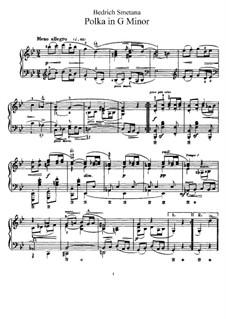 Три поэтических польки, B.95 T.65 Op.8: Полька No.2 соль минор by Бедржих Сметана