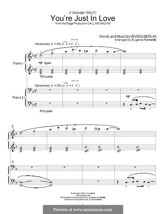 (I Wonder Why?) You're Just in Love: Для фортепиано by Ирвинг Берлин