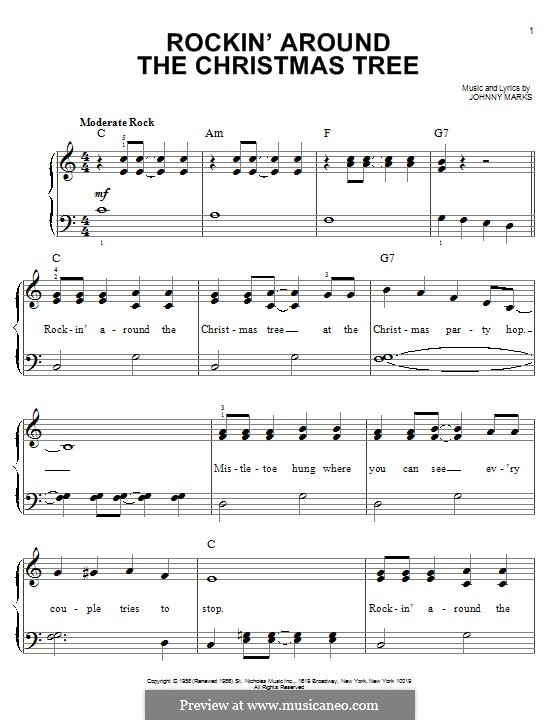Rockin' Around the Christmas Tree: Для фортепиано by Johnny Marks