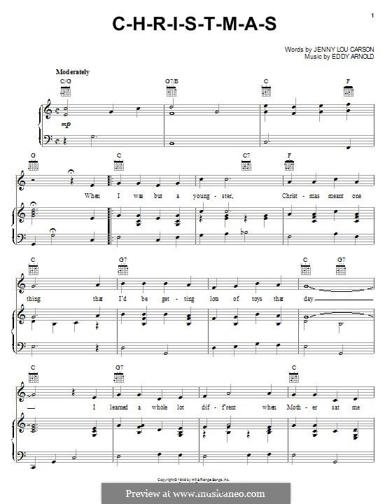 C-H-R-I-S-T-M-A-S (Perry Como): Для голоса и фортепиано (или гитары) by Eddy Arnold