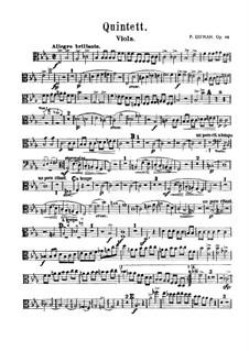 Фортепианный квинтет ми-бемоль мажор, Op.44: Партитура, Партии by Роберт Шуман