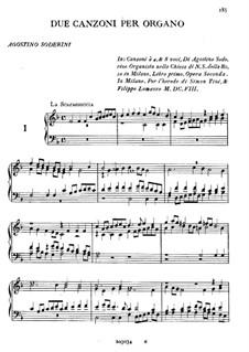 Две канцоны для органа: Две канцоны для органа by Агостино Содерини