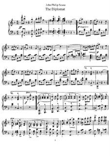 Дипломат. Марш: Для фортепиано by Джон Филип Суза