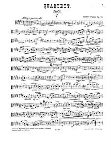 Струнный квартет No.1 ми мажор, Op.58: Партия альта by Роберт Фукс