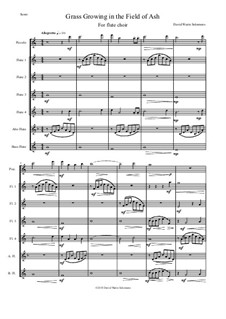 The grass is growing: For flute choir by Дэвид Соломонс