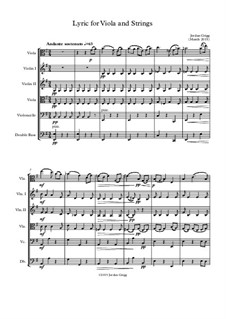 Lyric for Viola and Strings: Lyric for Viola and Strings by Jordan Grigg