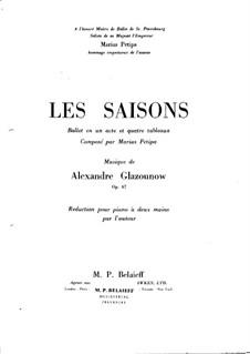 Времена года, Op.67: Для фортепиано by Александр Глазунов