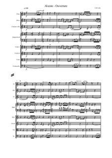 Альцеста, LWV 50: Ouverture – score and parts by Жан-Батист Люлли