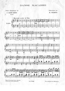Пляска смерти, Op.40: Для фортепиано by Камиль Сен-Санс