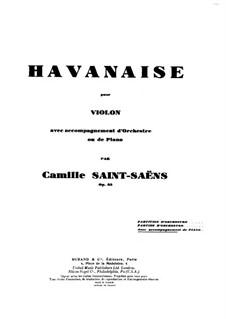 Хаванез, Op.83: Партитура для скрипки и фортепиано, Сольная партия by Камиль Сен-Санс