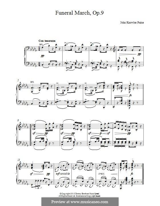 Funeral March, Op.9: Для фортепиано by Джон Ноулз Пейн