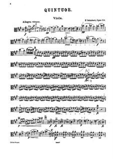 Квинтет для струнных и фортепиано 'Форель', D.667 Op.114: Партия альта by Франц Шуберт