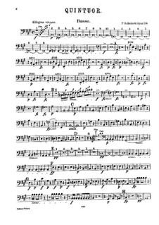 Квинтет для струнных и фортепиано 'Форель', D.667 Op.114: Партия контрабаса by Франц Шуберт