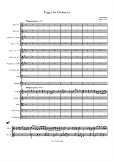 Fugue for Orchestra: Fugue for Orchestra by Jordan Grigg
