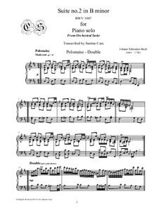 Сюита для оркестра No.2 си минор, BWV 1067: Polonaise and Double, for piano by Иоганн Себастьян Бах