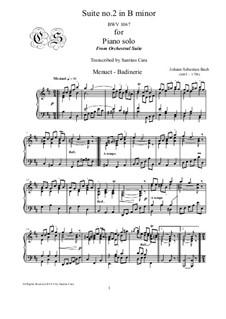 Сюита для оркестра No.2 си минор, BWV 1067: Minuet and Badinerie, for piano by Иоганн Себастьян Бах