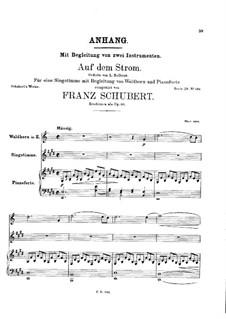 На реке, D.943 Op.119: Партитура by Франц Шуберт
