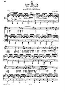 Аве Мария (вокально-фортепианная партитура), D.839 Op.52 No.6: Для голоса и фортепиано соль мажор (Немецкий текст) by Франц Шуберт