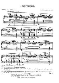 Четыре экспромта для фортепиано, D.899 Op.90: Экспромт No.4 by Франц Шуберт