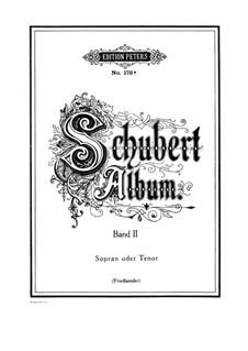 Песни для голоса и фортепиано: Том II, часть I by Франц Шуберт