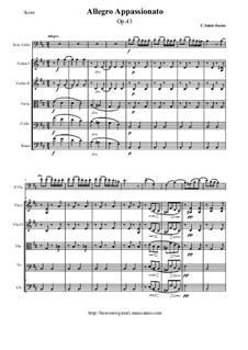 Аллегро аппассионато, Op.43: Партитура и партии by Камиль Сен-Санс