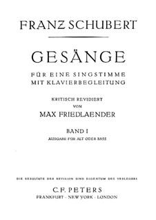 Песни для голоса и фортепиано: Сборник I by Франц Шуберт