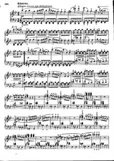 Соната No.21 для фортепиано си-бемоль мажор, D.960: Части III-IV by Франц Шуберт