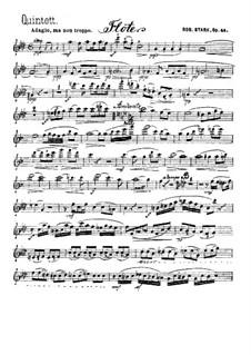 Квинтет для духовых инструментов, Op.44: Партия флейты by Роберт Штарк