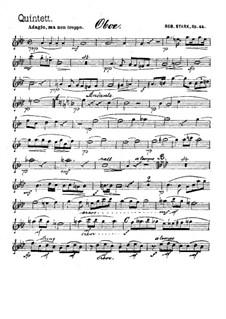 Квинтет для духовых инструментов, Op.44: Партия гобоя by Роберт Штарк