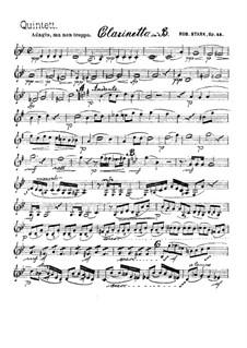 Квинтет для духовых инструментов, Op.44: Партия кларнета by Роберт Штарк