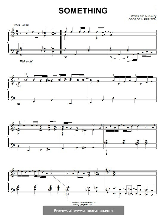 Something (The Beatles): Для фортепиано by John Lennon, Paul McCartney