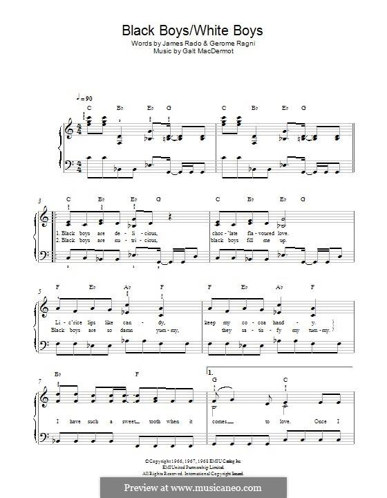Black Boys (from Hair): Для фортепиано by Galt MacDermot