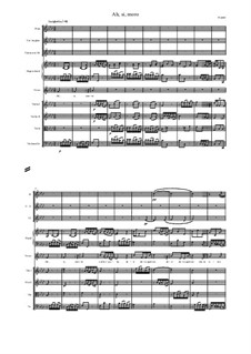 Admetus, King of Thessaly, HWV 22: Ah si moro, score and parts by Георг Фридрих Гендель