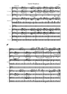 Альцеста, HWV 45: Gentle Morpheus, score and parts by Георг Фридрих Гендель