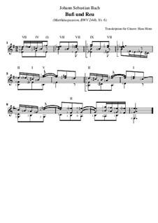 Nr.6 Buß und Reu: Für Gitarre by Иоганн Себастьян Бах