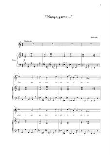 Piango, gemo sospiro e peno...: A Minor by Антонио Вивальди