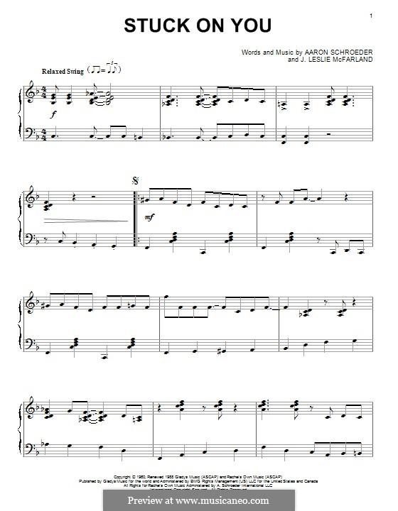 Stuck on You (Elvis Presley): Для фортепиано by Aaron Schroeder, J. Leslie McFarland