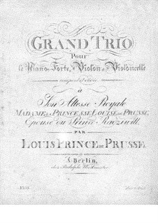 Фортепианное трио ми-бемоль мажор, Op.10: Партия фортепиано by Людвиг Фердинанд Принц Пруссии
