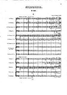 Симфония No.6 ре мажор, B.112 Op.60: Партитура by Антонин Дворжак