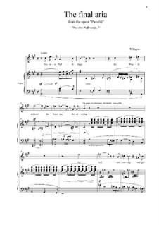 Фрагменты: Nur eine Waffe taugt... (The final aria) by Рихард Вагнер
