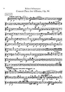 Концертная пьеса для четырёх валторн с оркестром, Op.86: Партии валторн by Роберт Шуман