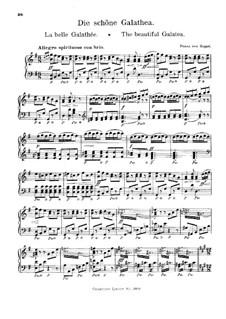 Overture to 'La belle Galathée' (The Beautiful Galatea): Для фортепиано by Франц фон Зуппе